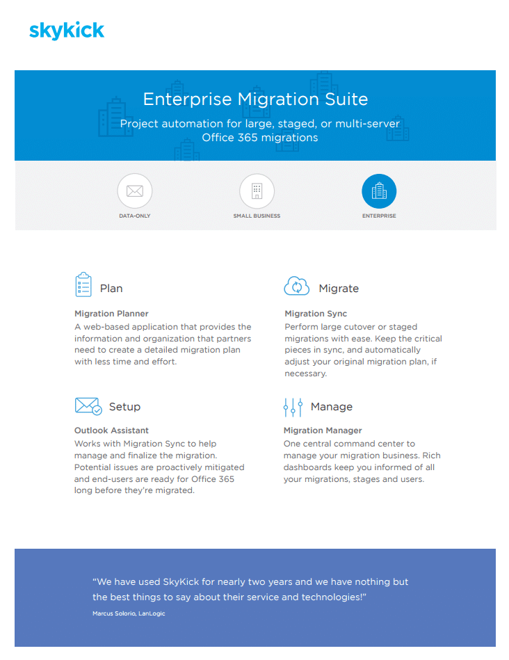 Enterprise Migration Suite