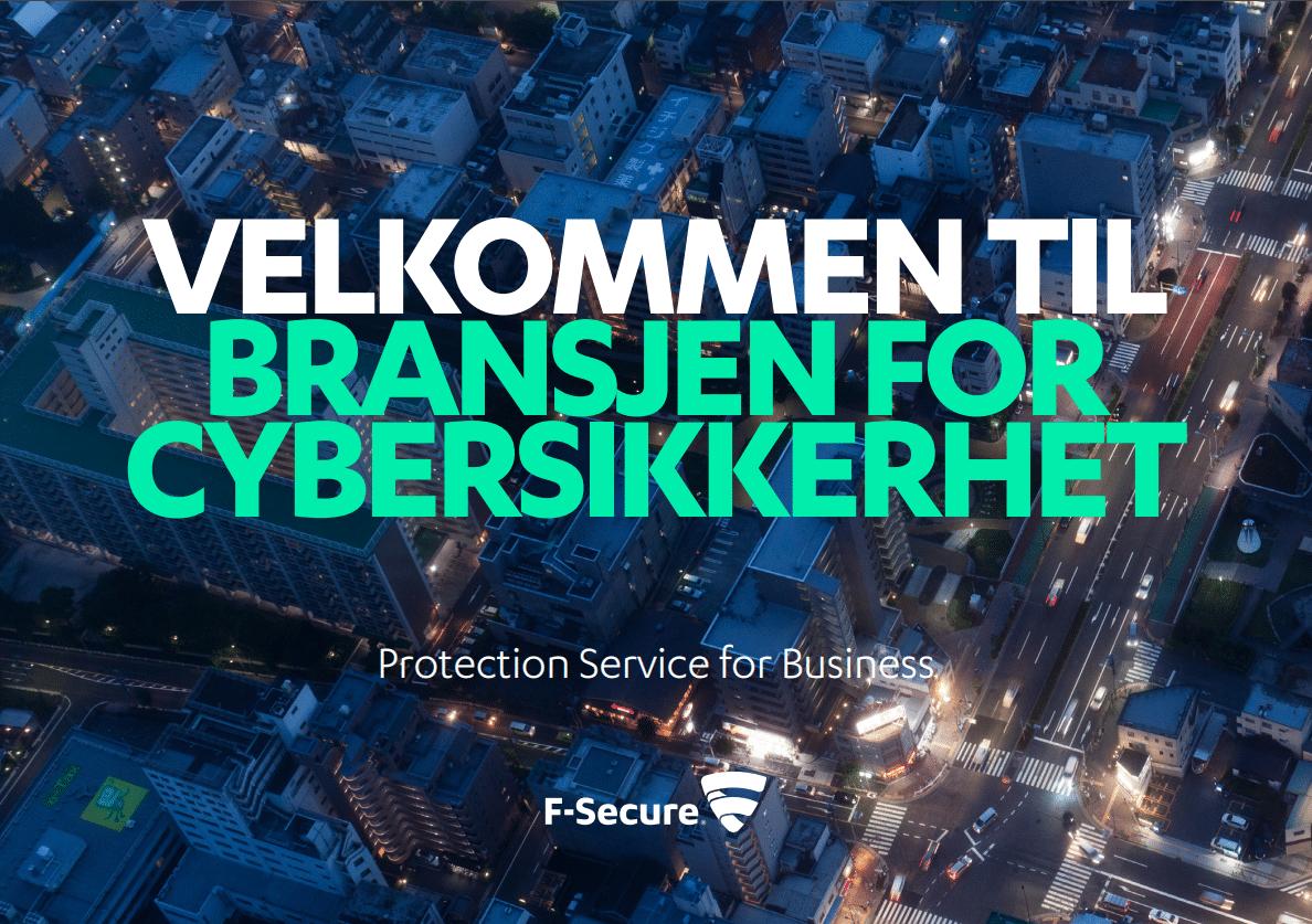 velkommen til bransjen for cybersikkerhet