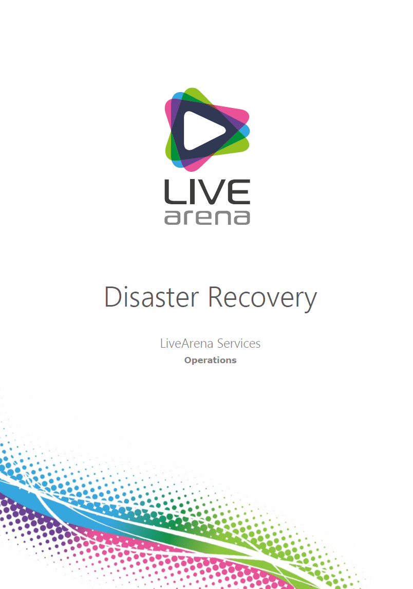 One Pager - Disaster Recovery