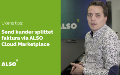 Hvordan splitte faktura i ALSO Cloud Marketplace